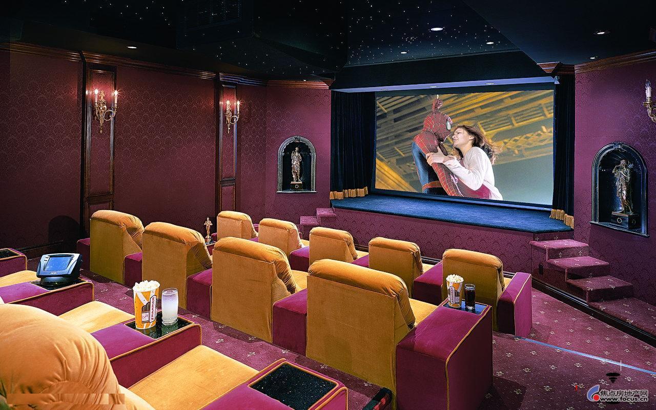 好莱坞影星别墅的豪华私人影院